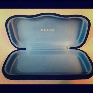 Authentic Black Velvet Gucci Sunglass Case